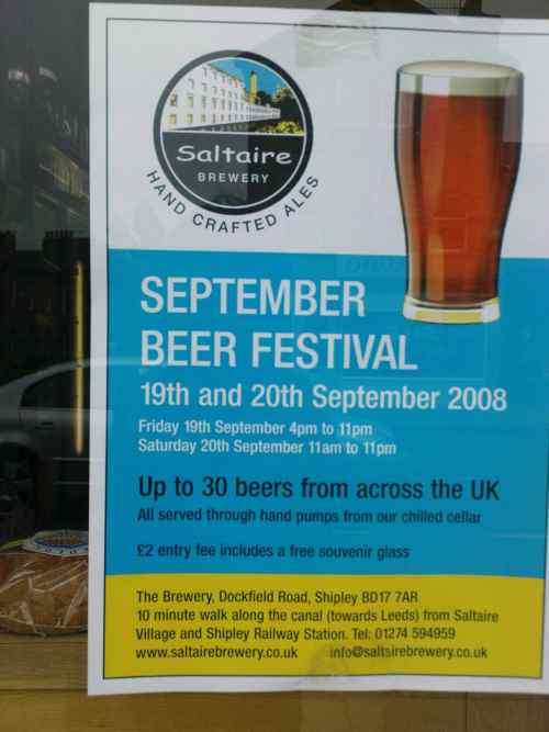 Saltaire Brewery beer festival post image
