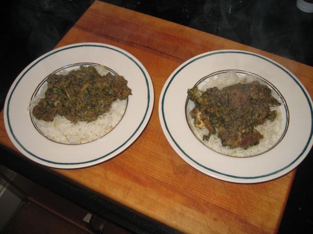 Moghlai Lamb with Spinach (Paalag Gosht) post image
