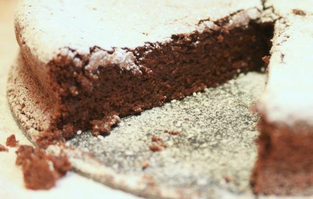 Elizabeth David's chocolate and almond cake