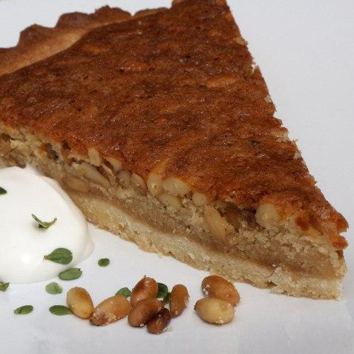 Pinenut and honey tart