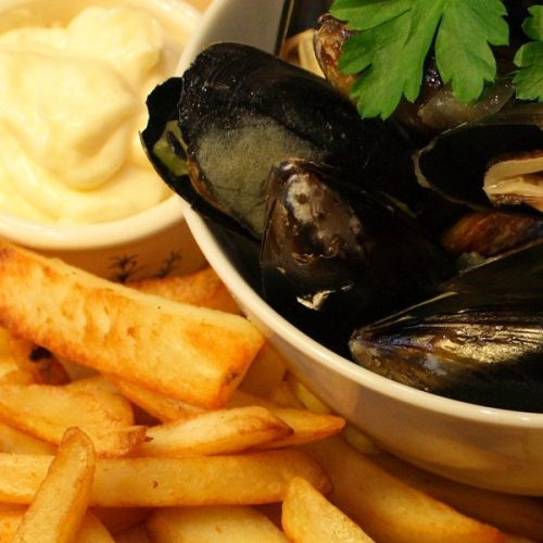 Mussels, chips and mayonnaise post image