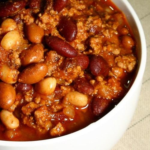 Three bean chilli