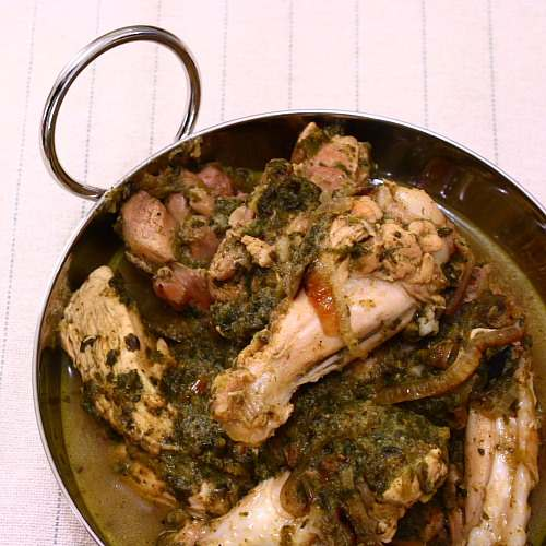 Saag Murgh, or chicken and spinach curry Madhur Jaffrey