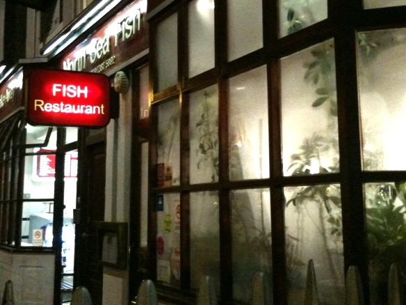 Fish Chips North Sea Fish Restaurant Bloomsbury London