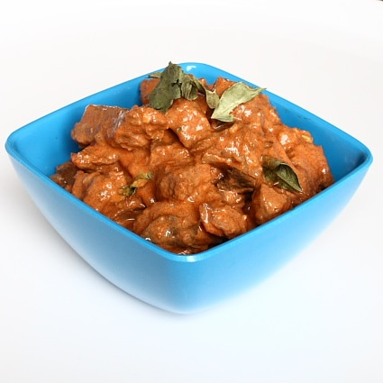 Sri Lankan Red Beef Curry, with paprika, cayenne and coconut milk