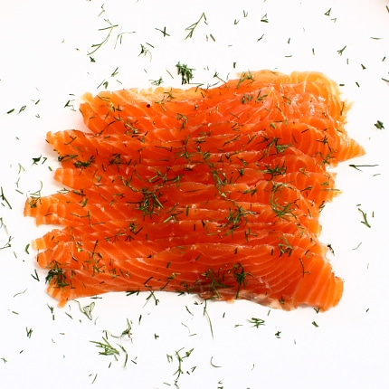 Cured salmon – gravad lax