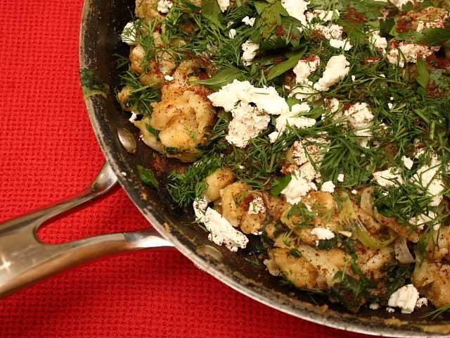 Butter beans with spinach, feta and sumac from Plenty by Yotam Ottolenghi