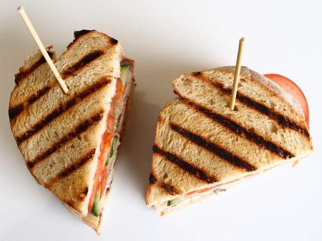 Leftover Christmas turkey sandwiches
