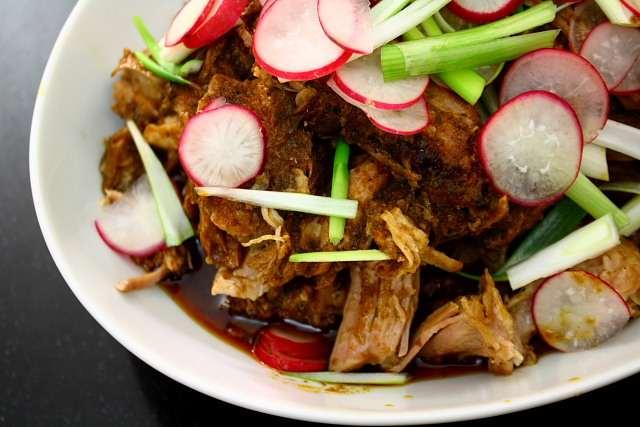 Cochito chiapaneco, or Mexican chilli-seasoned pot roasted pork
