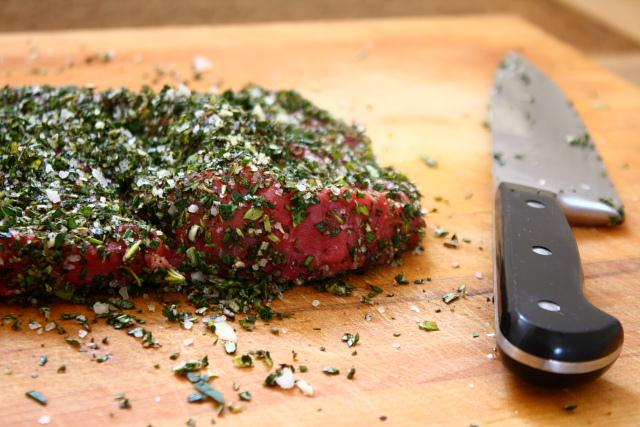 Messada di bue – Italian beef cured with herbs and garlic