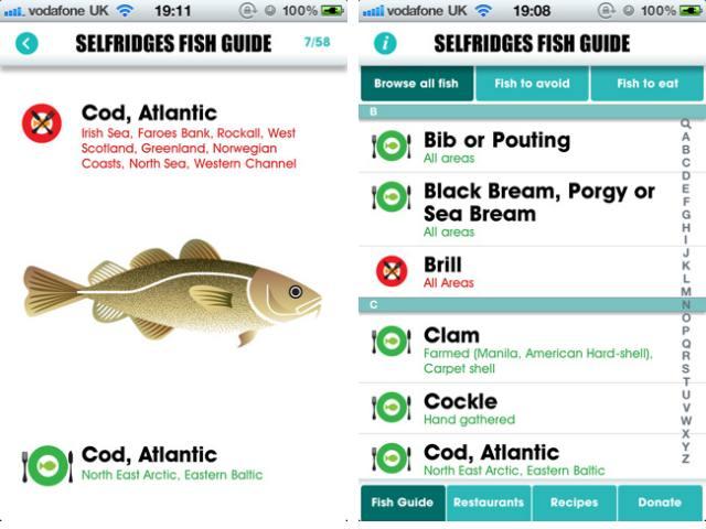 Selfridges Project Ocean Fish Guide