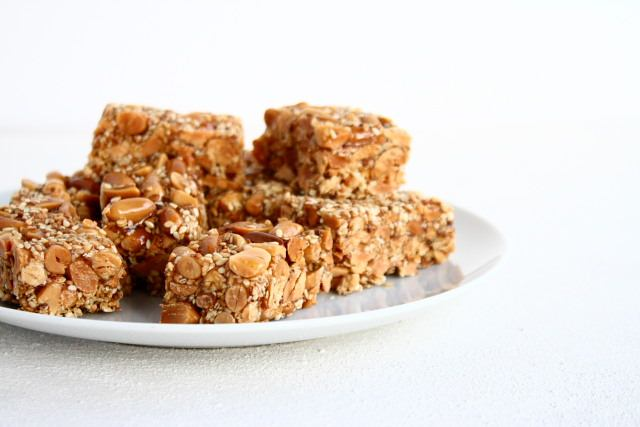 Foosteeyeah, or sesame and peanut slices from Nouha Taouk's Whispers from a Lebanese Kitchen