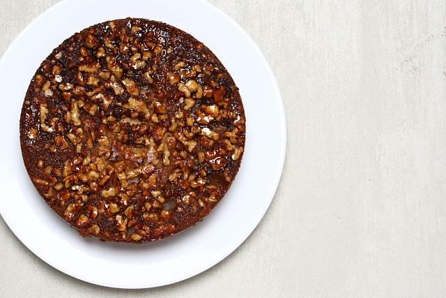 Maple, walnut and pear cake by David Lebovitz
