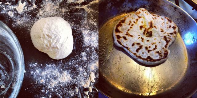 How to make Indian or Pakistani parathas, enriched unleavened Asian flatbreads
