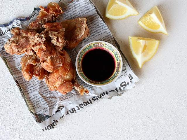 Japanese karaage or deep fried chicken