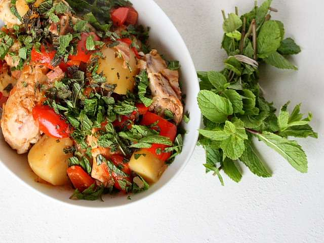 Pollo a la montanesa, or Santander mountain chicken from Nicholas Butcher's Recipes From the Spanish Kitchen