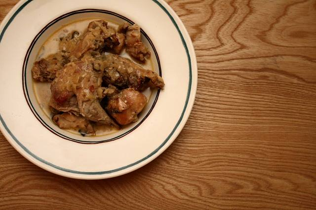 Rabbit with mustard, or lapin a la moutarde