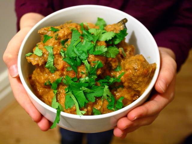 Khadey Masaley Ka Ghosht, or Lamb with whole spices and yoghurt