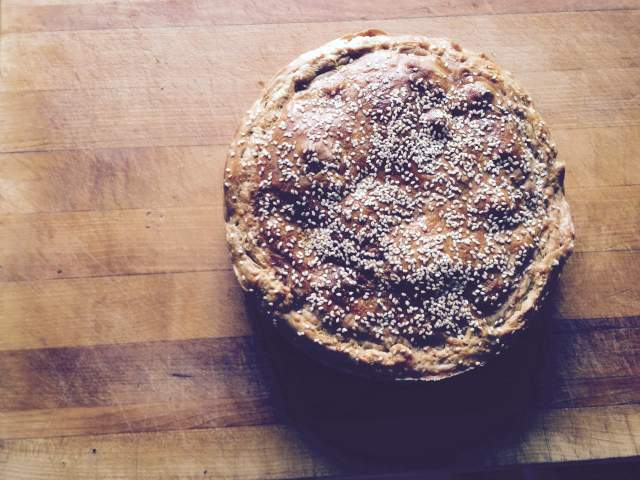 Beef bourguignon pie, with homemade puff pastry