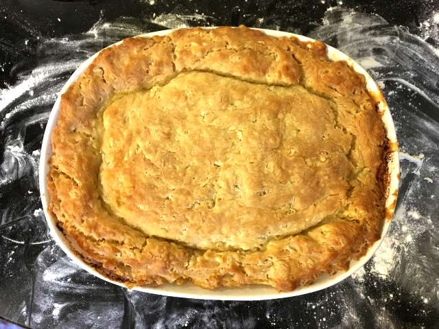 Slow cooked oxtail pie, with suet crust pastry