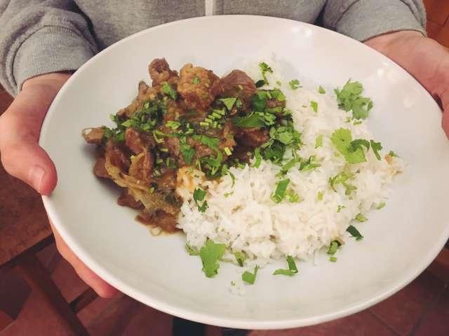 Tomato mutton curry