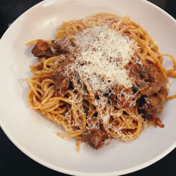Chicken liver ragu