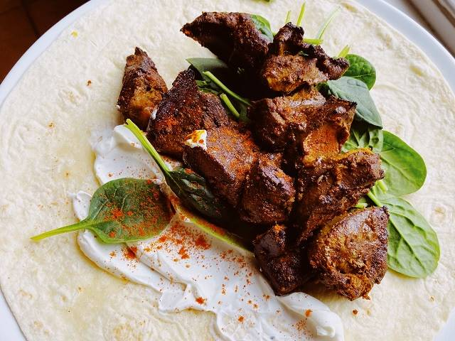Grilled Moroccan lambs' liver kebabs post image
